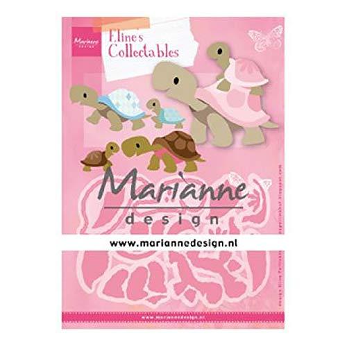 Marianne Design Collectables Plantillas de Corte,Tortuga,para Diseños Intrincados y Detalles en Relieve en Manualidades en Papel, Metal, Rosado, Small