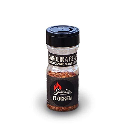 Scovillas Carolina Reaper, Chili-Flocken im Shaker, 25g