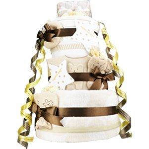 今治タオル imabari towel 出産祝い 日本製 オーガニック 豪華3段DX おむつケーキ シフィール ファーストベビーシューズ (ムーニーパンツタイプMサイズ)