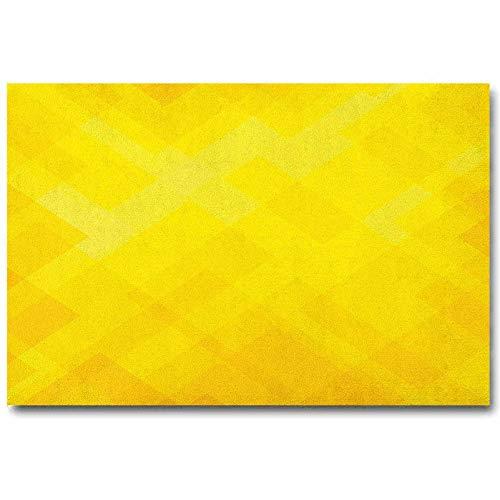 ScottDecor Yellow Bathroom Wall Art Contemporary Art Inspirations in Yellow Toned Geometrical Rhombus Arrangement Yellow Marigold L16 x H24 Inch
