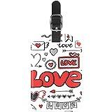 Etiquetas de Equipaje con diseño de corazón para Maleta de Viaje, 1 Paquete