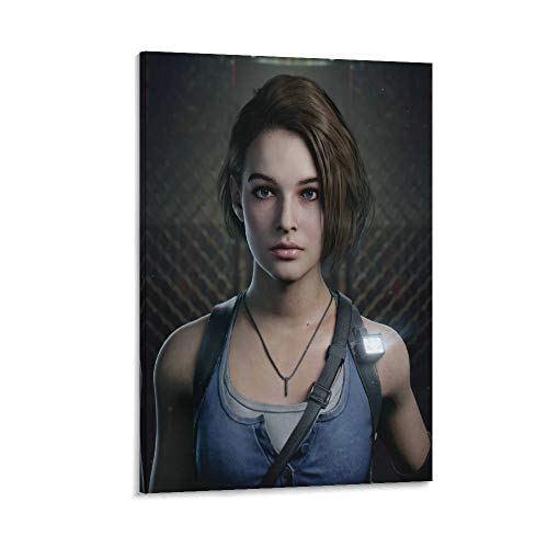 DRAGON VINES Resident Evil 3 Remake Jill - Póster e impresiones en lienzo (20 x 30 cm)