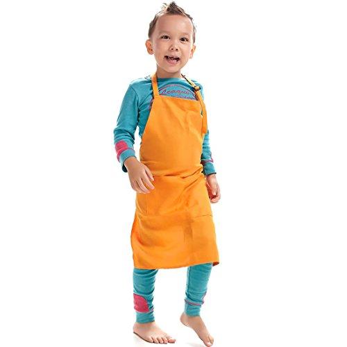 LissomPlume Grembiule unisex da bambini è realizzato in nylon,14 colori,taglia unica 61 * 51cm,di vari funzioni,più resistente,antivegetativa e facile da lavare-Pink