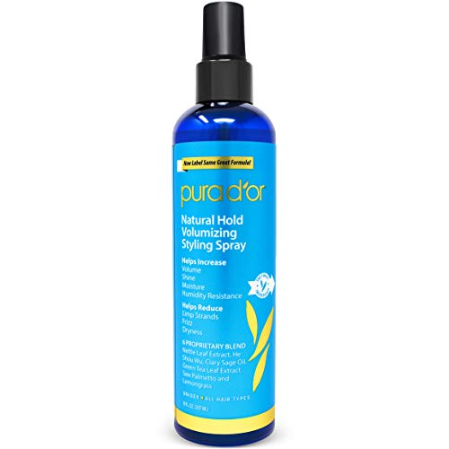 PURA D'OR Biotin Natural Hold Styling Spray (8oz) - Flexible Hold, Moisturizing & Volumizing...