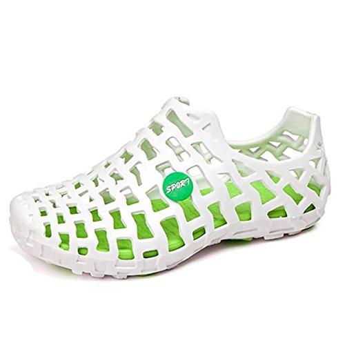 Garten Schuhe, Tezoo Sommer Sandale Classic Unisex,Weiß-Grün,42 EU