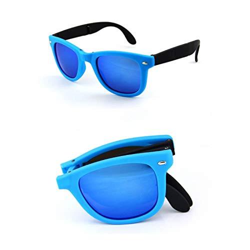 WET0VSD Männer Brille Uv400 Sonnenbrille Klappspiegel Shades Faltbare Sonnenbrille Klappbrille Frauen Brillen