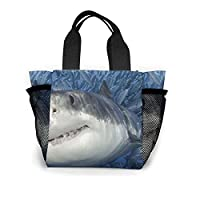 サメ 動物柄 エコバッグ ランチバッグ トートバッグ ショッピング 手提げ おしゃれ 軽量 通学 通勤 旅行用 男女兼用