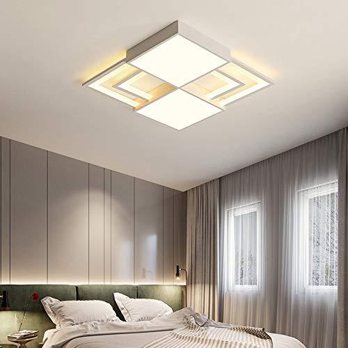 De enige goede kwaliteit Indoor Creatieve Ultra-dunne Ontwerp Woonkamer Slaapkamer Geometrische Aansluiting LED Plafond Lamp Stepless Dimming Mode Home Restaurant Hotel Decoratieve Lichten
