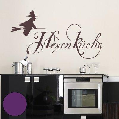 """A234 Wandtattoo \""""Hexenküche\"""" 60cm x 31cm violett (erhältlich in 40 Farben und 4 Größen)"""