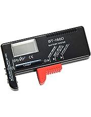 Newin Star Comprobador de Pilas Medidor Pilas Probador de la batería Digital del hogar del Inspector de la batería de 9V 1.5V AA AAA Celular de células pequeñas Pilas botón BT-168D