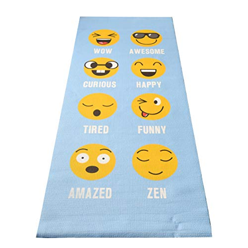 "Bean Products Kids Size Sticky Yoga Mat | 3mm Thick (⅛"") x 60"" L x 24"" W 