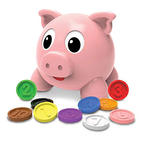 The Learning Journey Learn with Me - Numbers & Colors Pig E Bank - Color and Number STEM - Teaching Toddler Toys & Gifts for Boys & Girls Ages 2 Years and Up, Model Number: 208441