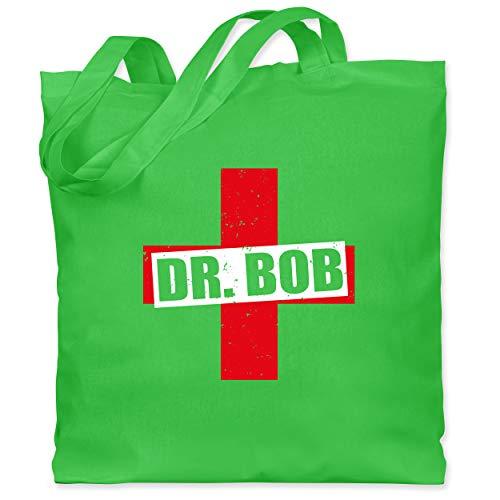 Shirtracer Karneval & Fasching - Dr. Bob Kostüm Kreuz - Unisize - Hellgrün - Dschungel - WM101 - Stoffbeutel aus Baumwolle Jutebeutel lange Henkel