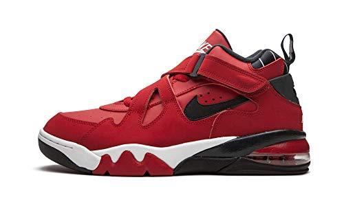 Nike Air Force Max CB masculino, Gym Red/Black/White, 10