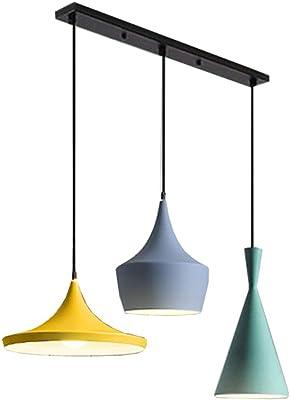 110-220 V,7 solo cabeza de hierro forjado que cuelga la l/ámpara para el dormitorio del comedor E27 Macaron Color Colgante Ara/ña de luz de techo