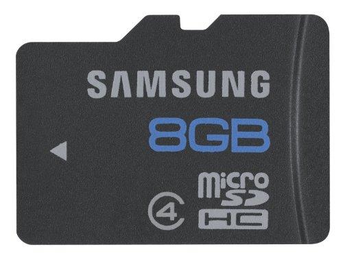 Samsung Scheda Micro SDHC, 8 GB, Classe 4, Nero