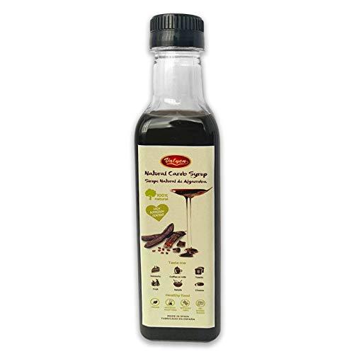 Algarroba Sirope - Edulcorante Natural - Jarabe Bio Carob 320ml - Alternativa al Azúcar - Sustituto Ideal del Chocolate