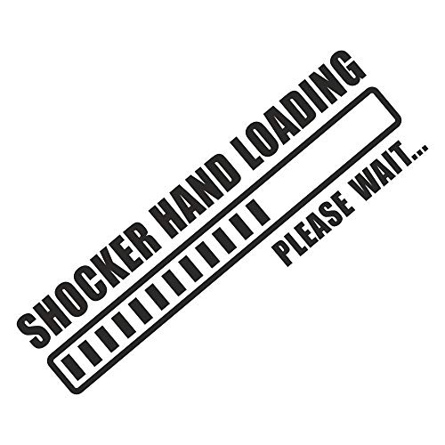 foliezentrum 1x Shocker Hand Loading 18 x 5,5 cm zwart sticker Tuning 341 Shocker Auto JDM OEM Dub Decal Sticker Illest Dapper Oldschool Folie