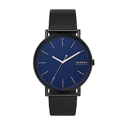 Skagen Herren Analog Quarz Uhr mit Edelstahl Armband SKW6529