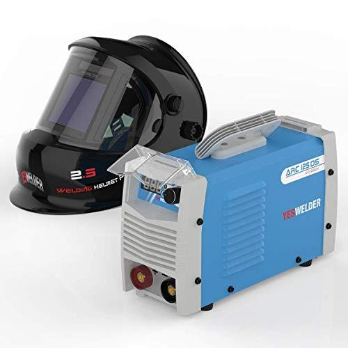YESWELDER ARC Welder 125Amp Digital Inverter IGBT Stick MMA Welder & LYG-Q800D Large Viewng Welding Helmet