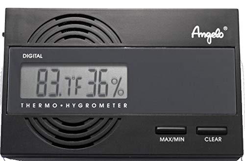 Digitales Hygrometer mit Temperaturanzeige von Angelo