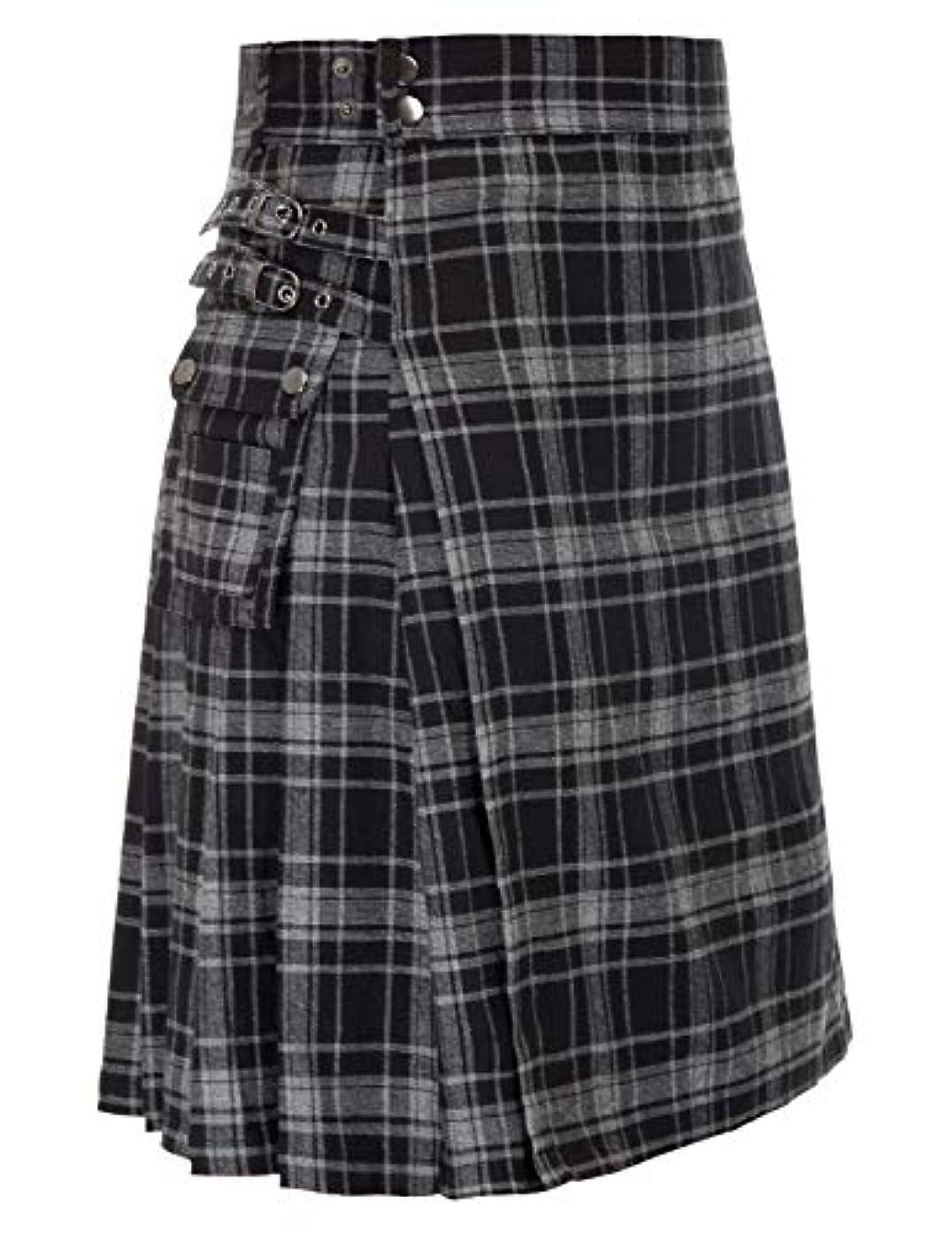 Scottish Mens Kilt Traditional Highland Tartan Utility Kilt
