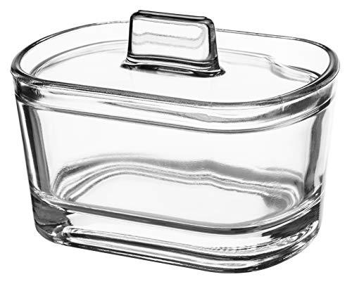 KADAX Zuckerdose, Zuckerschale aus Glas, Gewürzdose mit ergonomischem Deckel, transparenter Glasbehälter für Zucker, Gewürzglas mit verstärktem Boden, Zuckerschüssel mit Griff (Oval)