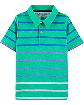 OshKosh B Gosh boys Short-sleeve Polo Shirt Jade Stripe 3T US