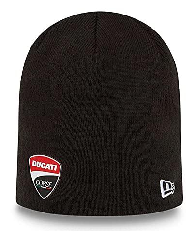 New Era - Gorro de punto con logotipo de Ducati, color negro., Negro , Talla única