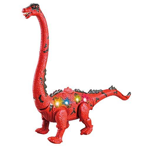 Poitwo Elektrisches Spielzeug Dinosaurier laufen Ei Langhals-Projektion Simulation Tiermodell rot