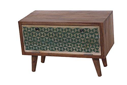 SIT-Möbel Scandi 4358-01 Schuhschrank, 1 bemalte Klappe, aus Sheesham-Holz, natur, 78 x 40 x 50 cm