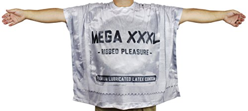 Faux Real Funny Shirts for Men - Condom T-Shirt - Size X-Large Grey