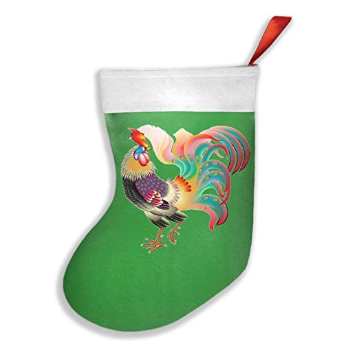 633 Rooster 16.5' Christmas Stocking Classic Family Holiday Christmas Party Decoration