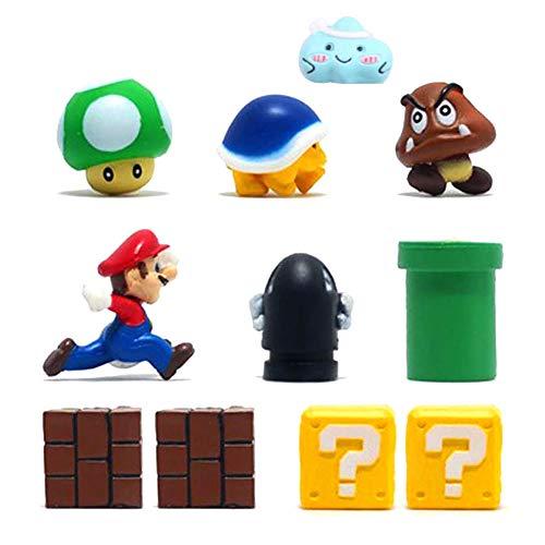 Kaimeilai Kühlschrank Magnete 3D Dekorative, 11 Pcs Super Mario Magnete Dekorative, Klassenzimmer Whiteboard Büro Magnettafel, Kühlschrankmagnete für Kühlschrank Nette Lustige, Dekorative Geschenke