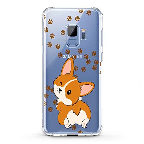 Lex Altern TPU Case Compatible for Samsung Galaxy A90 5G A11 A12 A50 A01 A20 A10s Lightweight Design Corgi Kawaii Art Funny Animal Teen Print Dog Puppy Wink Cover Slim fit Smooth Clear Soft Paws