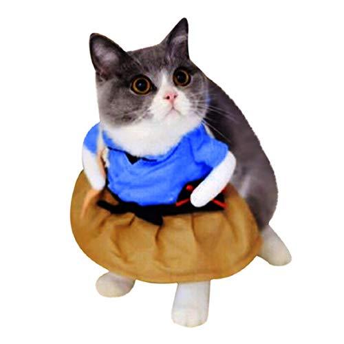 Bluelucon Haustier lustige Katze Kostüme Kleidung Kleid Kleidung Cosplay Mode Neuen Haustier Kleidung für Welpen