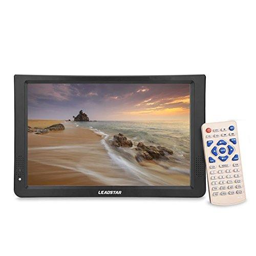 fosa Televisore Portatile TDT 1080P HD 11.6' TV DVB-T2 DVB-T Digitale Analogica Schermo LCD con Porta USB &SD/MMC Card Slot per Home Car(EU)