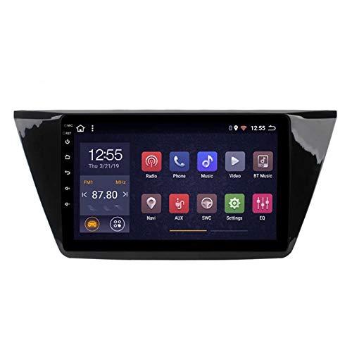 ADMLZQQ Android 10 Autoradio 2 DIN Car Stereo Coche GPS Navegacion para Volkswagen Touran 2015-2018 Soporte Carplay con cámara Trasera/Google Play/Mapa en línea/Salida de Video,WiFi 1+16