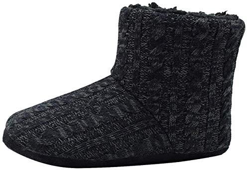 COFACE Zapatillas Interiores Antideslizantes Forradas de Piel sintética de Punto para Hombre Zapatillas de casa con Botines Boot House