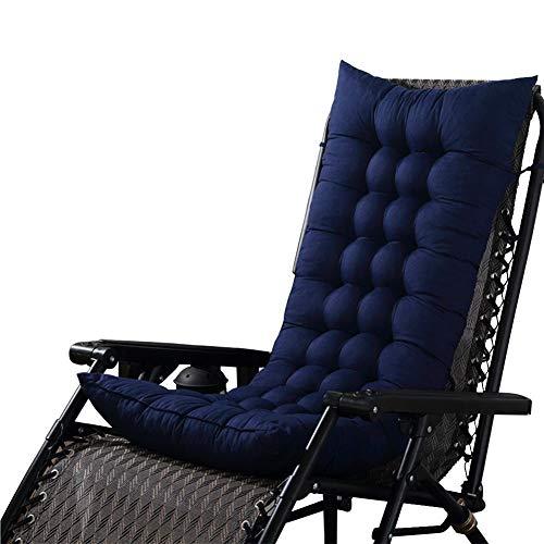 QQ Cojines Multifuncionales para Tumbonas, 125 * 45 * 8cm Cojines para Muebles De Jardín - Cojín Reclinable Engrosado Cojín para Mecedora Cojín para Sofá Colchoneta Tatami Colchoneta (Azul)