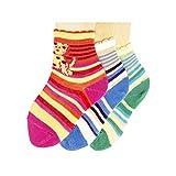 Shimasocks Baby Socken Kätzchen 3er Pack, Größe:62/68