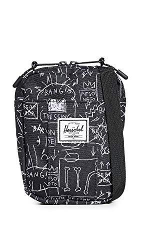 Herschel Supply Co. Men's x Basquiat Cruz Crossbody Bag, Basquiat Beat Bop, Black, Print, One Size