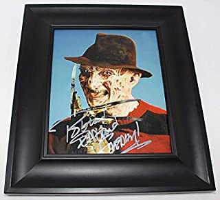 A Nightmare on Elm Street Freddy Krueger Robert Englund Authentic Signed Autographed 8x10 Glossy Photo Gallery Framed Loa