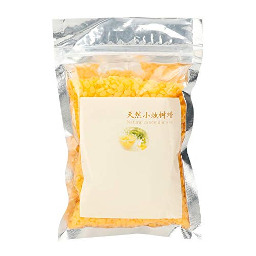 Cera de candelilla natural Material de cosméticos DIY Lápiz labial manual para belleza para lápiz labial de salón(100g/bag)