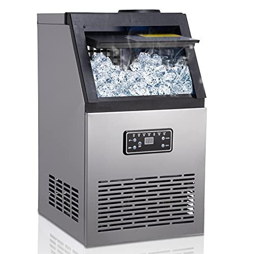 Machine à glaçons, 48 Glaçons Par 15Min, 80kg en 24 H, 2...