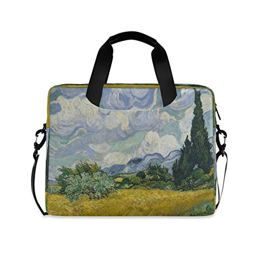 HMZXZ Funda para ordenador portátil Van Gogh con pintura al óleo de árbol de 13, 14, 15,6 pulgadas, maletín de transporte para el trabajo escolar