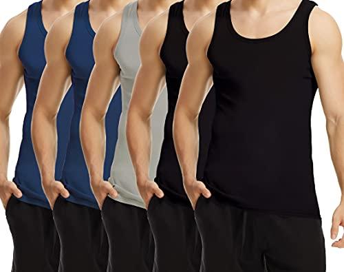 TUUHAW Camisetas de Tirantes para Hombre Pack de 5 de Algodón 100%...