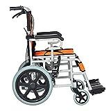 Nuokix Silla médica de rehabilitación, sillas de ruedas, Ligero Ligero reforzada Manual de silla de ruedas plegable Mayores lisiados de conducción Material sanitario for discapacitados Apto para perso