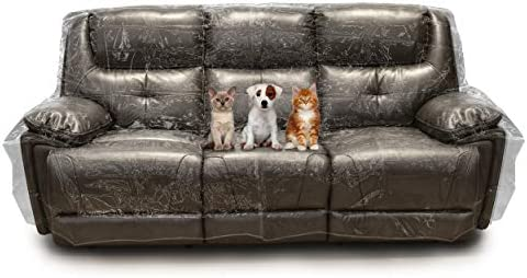 Best Besti Plastic Couch Cover for Pets – Clear Slipcovers for Sofa, Chair, Loveseat - Dust, Water, Dir