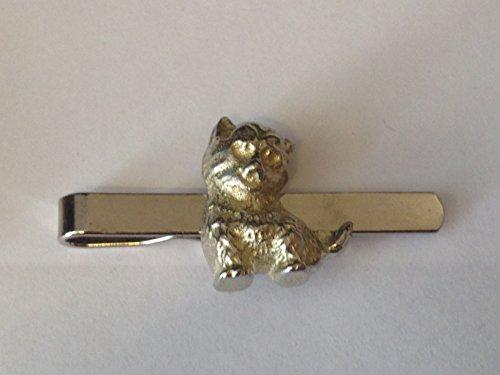 Lachende Katze GT1aus feinem englischen Moderne Zinn auf einer Krawatte Clip (Slide) geschrieben von uns Geschenke für alle 2016von Derbyshire UK